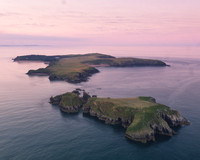 Dawn at Caldey Island, photographed with Drone