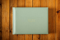 "Ben & Grace - 16x12"" Belissimo wtih Sage Leatherette Cover"